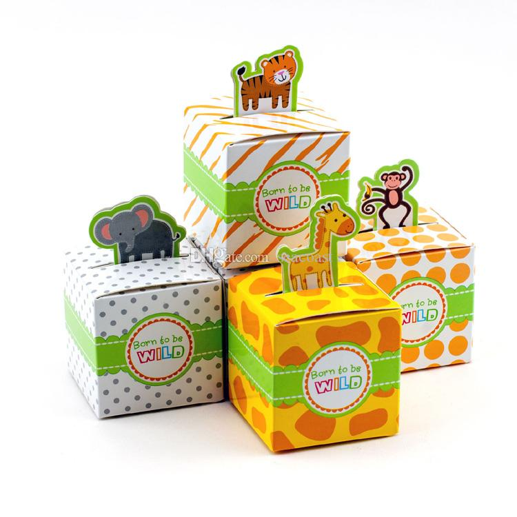 Giraffe Elephant Monkey Tiger Animail Animals Baby Shower Favors