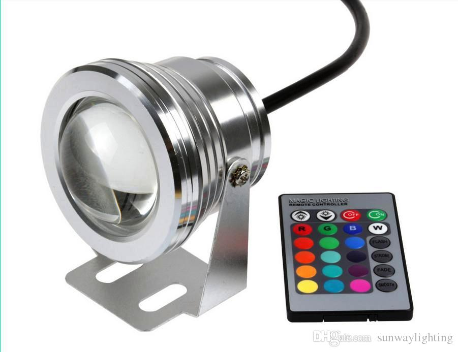 Led Underwater Lights Led Lamps 4pcs Silver Cover Led Underwater Pool Light Convex Lens Underwater Led Lamp Red Blue Green Underwater Led Lights Ip68 10w
