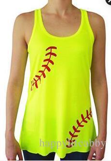 a0dc3099d32a 2019 Women Baseball Tank Top Sports Printed Shirt Summer Beach ...