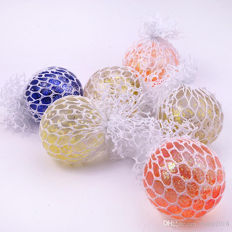 Yeni Üzüm Sıkmak Havalandırma Oyuncak 6 cm Sıkmak Topu Dekompresyon Oyuncak Stres Rahatlatıcı Hediye Çocuklar için Ücretsiz DHL 201