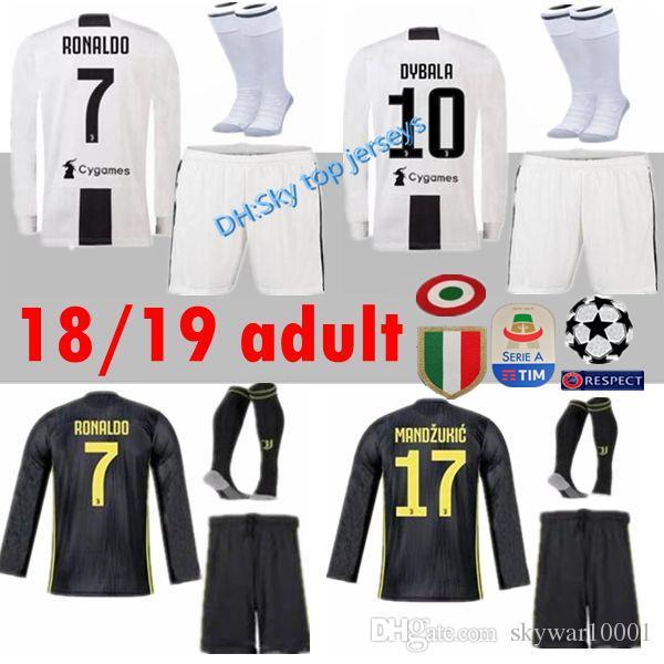 a437d0a1b aliexpress juventus 1 buffon red goalkeeper long sleeves soccer club jersey  b2bd4 3d4c1  where to buy 2018 long sleeve kit 18 19 juventus soccer jerseys  ...
