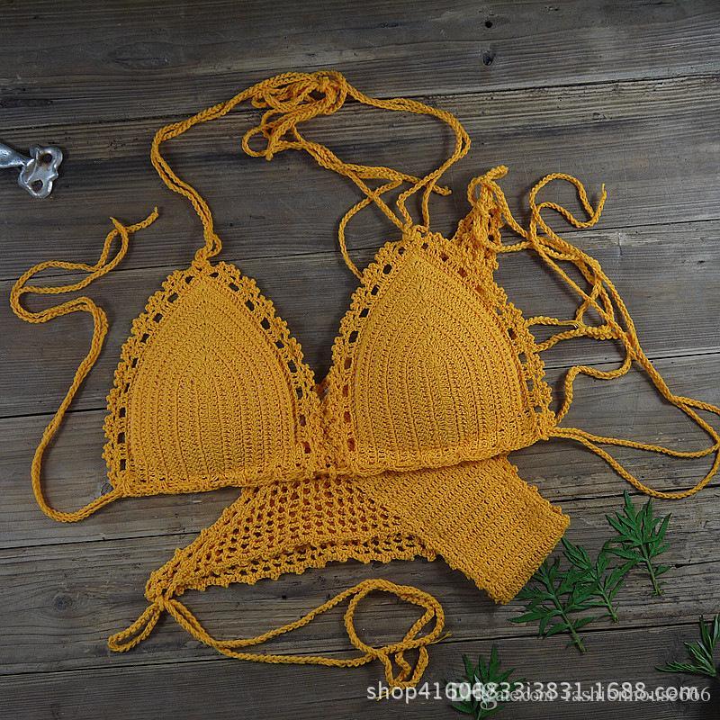 Colores Baño Crochet Hollow Bikini Mujeres Personalizados Traje Gratis Hand Sexy Envío 88at By De UVMpSz