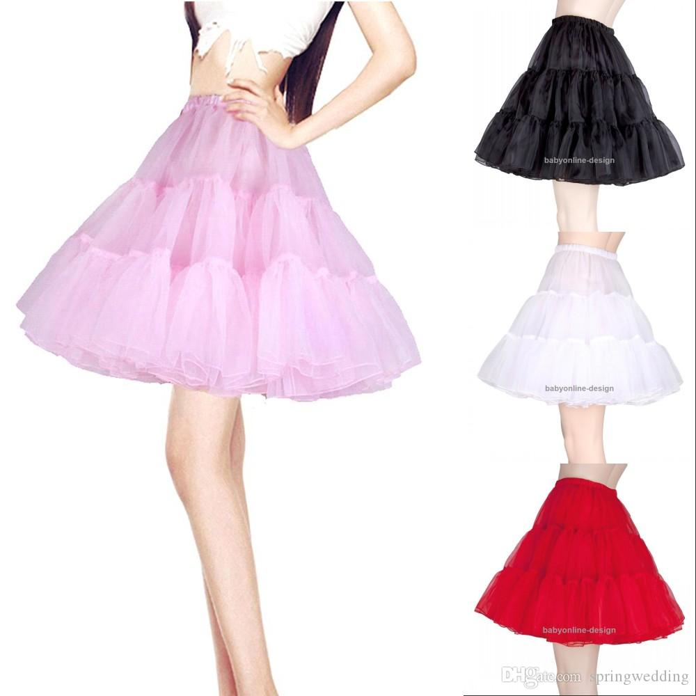88a771731a New Short Organza Petticoat Crinoline Vintage Wedding Bridal Petticoat For  Wedding Dresses Underskirt Rockabilly Tutu CPA261 The Petticoats What Are  ...