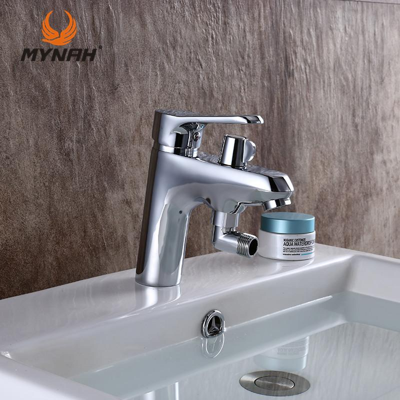 2019 Mynah Russia Classic Style Bathroom Sink Basin Faucet Double