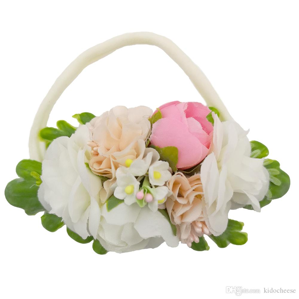 2d19a8433a47 Compre Hermosa Boda Ivorie Artificial Flor Corona Suave Elástico Vendas De  Nylon Para Recién Nacidos Niños Niñas Mujeres Diadema Para El Bebé  Accesorios ...