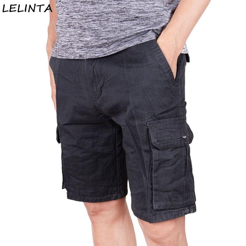 2a1e5c4b Men s Casual Loose Fit Cargo Shorts Straight Multi-Pocket Cotton Wear  Classic-Fit Work Short Pants XS-4XL