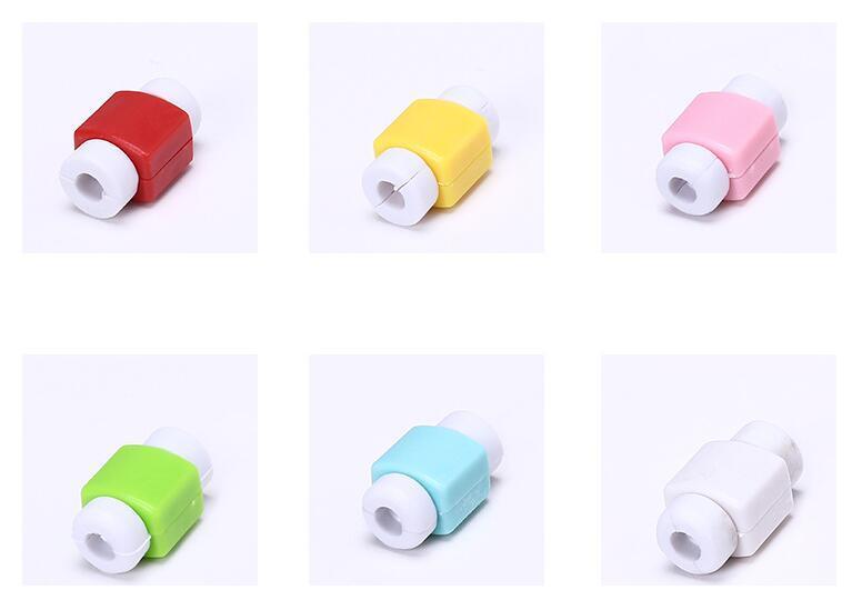 Kablo Şarj Koruyucular Silikon Renkli Yıldırım Veri Kablosu USB Şarj Veri Hattı Koruyucu koruyucu iphone 5 s 6 s 6 artı 7 ipad ipod