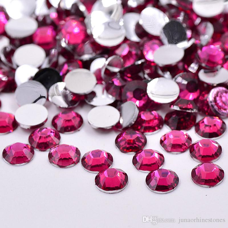 4mm 5000pcs Rose Color Resin Rhinestones Flat Back Nail Art Crystal Stones Round Strass Chaton Scrapbook Beads for DIY Jewelry