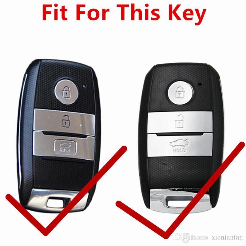 Flybither couro genuíno inteligente tampa da caixa chave para kia kx3 / kx5 / k3s / rio / semente / cerato / optima / k5 / sportage / sorento car styling l72