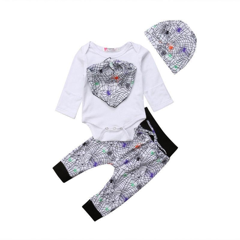 559e2bced 2019 Halloween Baby Girls Boys Clothes Set Long Sleeve Rompers ...