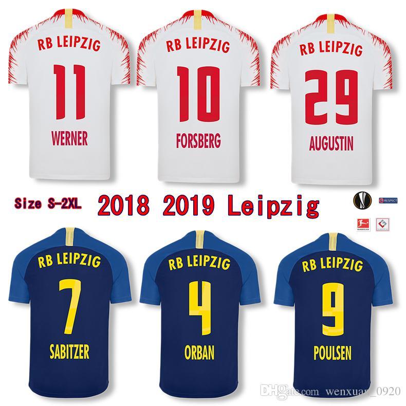 Compre 2018 2019 Leipzig RB Camisola De Futebol FORSBERG WERNER SABITZER  POULSEN BERNARDO Casa Fora De Casa 18 19 Leipzig Camisola De Futebol De ... 34e65039f5fd9