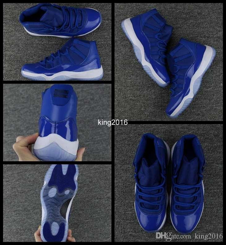 2018 New High Quality 11 XI Royal Blue Basketball Shoes For Men Sports Mens  11s Trainers Athletic Sneakers Size US 7 13 Womens Basketball Shoes Sneakers  For ... 777fa1a21