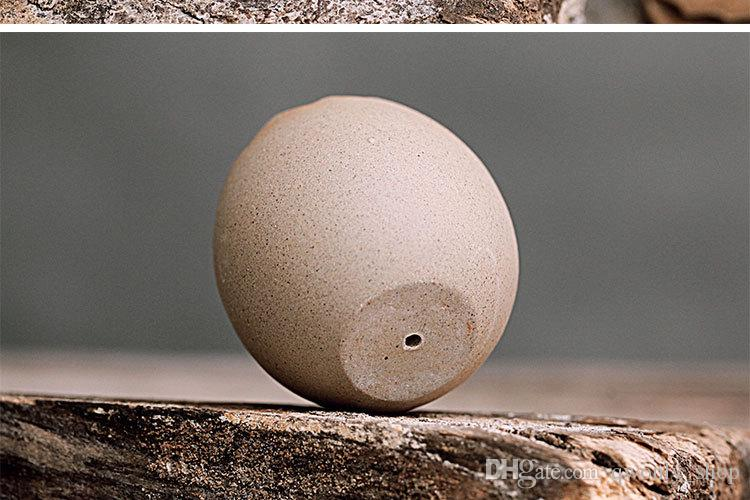 Creative Ceramic Egg Shell Shape Flower Pots Succulent Planters Pots Mini Bonsai Cactus Planters Desktop Flowerpots for Wholesales