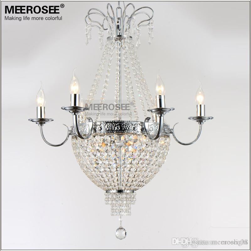 best sneakers 55096 8b76b French Empire Crystal Chandelier Light Fixture Vintage Crystal Lighting  Wrought Iron White Chrome Black color