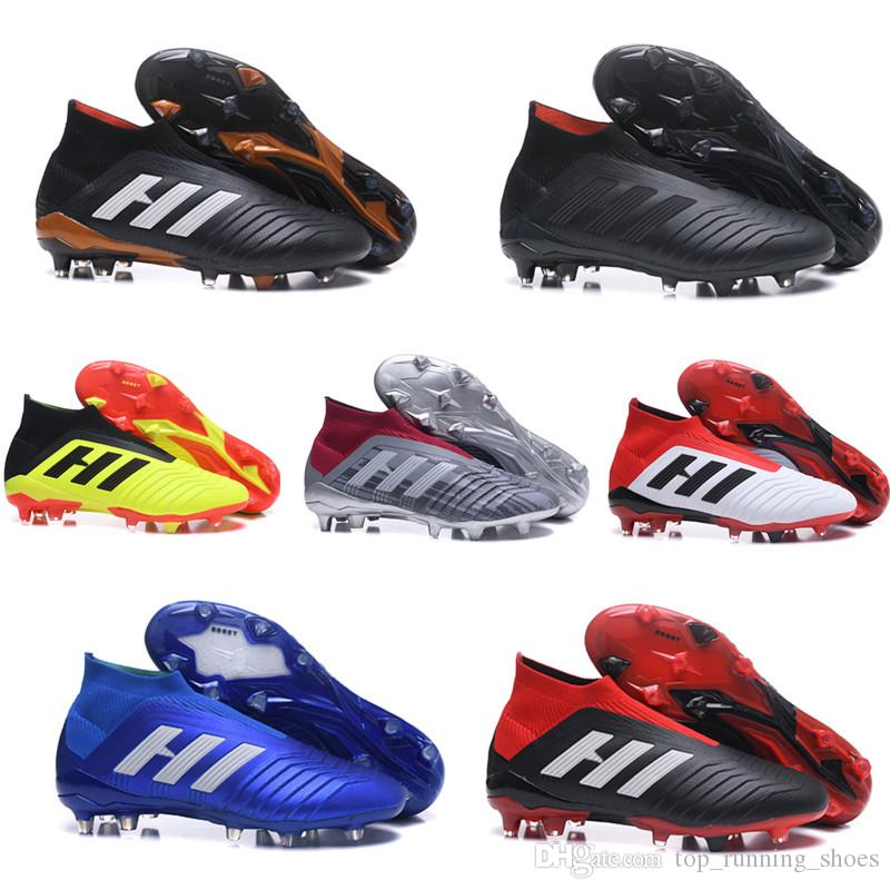 Cheap Mens High Ankle Football Boots Predator 18+x Pogba FG Accelerator DB Kids Soccer Shoes PureControl Purechaos Soccer Cleats cheap sale cost RdwOh
