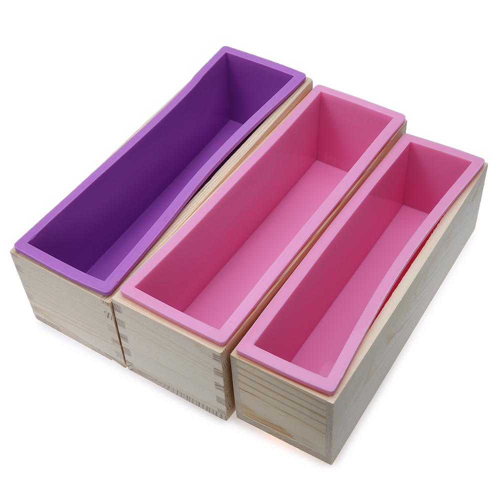 2019 Bakeware Cake Tools 1200g Diy Wooden Box Silicone Liner