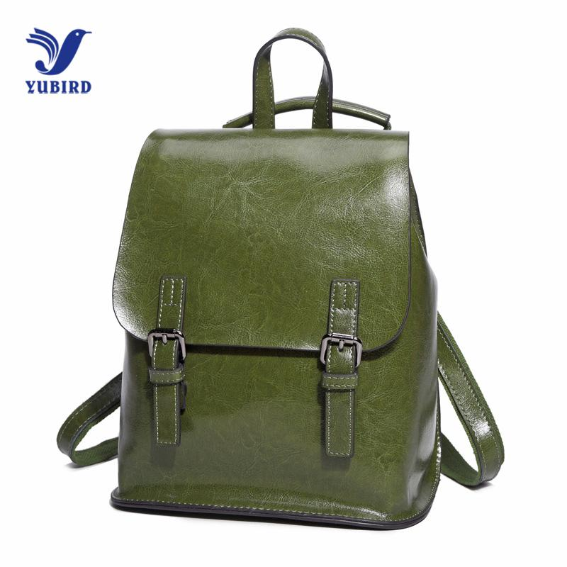 6ceea6aca8 YUBIRD Genuine Leather Backpack Vintage Cow Split Leather Women Backpack  Ladies Shoulder Bag School Bag For Teenage Girl Travel Backpacking Backpacks  ...
