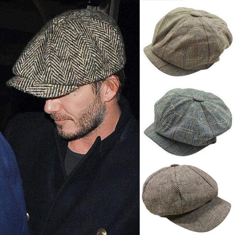 Compre Hombres Tweed Gorra De Boina Peaky Blinders Baker Boy Chequeado  Plano Grandad Hat A  38.45 Del Grandliu  cd379a0cb0b