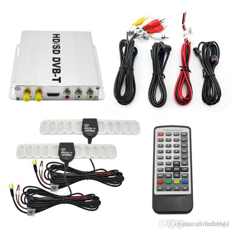 wholesale Digital Dual Tuner Car HD H 264 MPEG-4 HD/SD Various Channel  DVB-T Receiver Mobile DVB-T BOX With PVR USB HDMI #2915