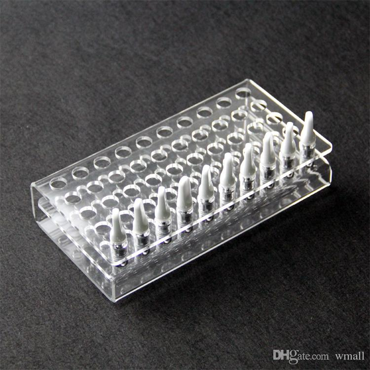Acrylic atomizer display shelf clear stand showcase holder for ecig vape tank 92A3 atomizer 510 Thread Clearomizer RDA RBA Vaporizer
