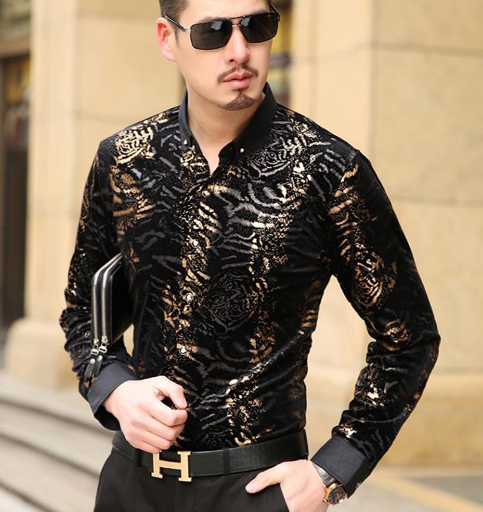 2019 Luxury Brand Silk Leopard Print Shirts Men S Fashion Long Sleeve  Spring Summer Business Dress Floral Shirt From Blueberry07 c6a2a90b2