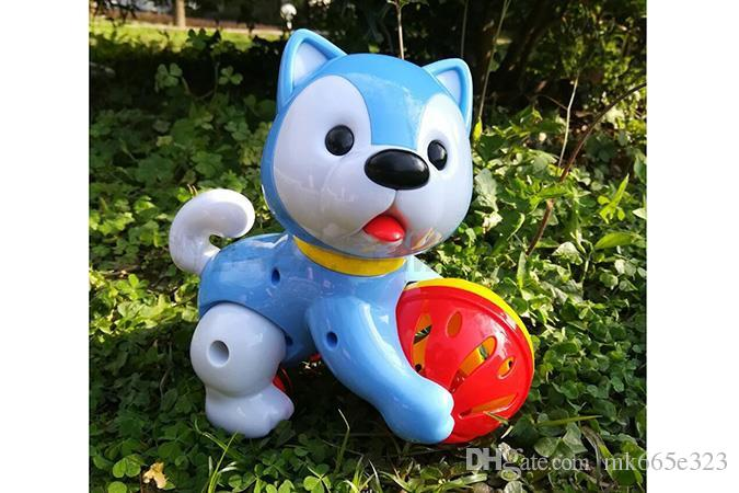Pull Back Cars Plastic Vehicles Friction Powered Mini Dog Husky Car for Toddlers Gift Baby Toy