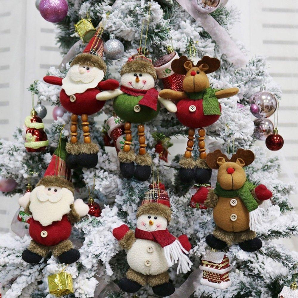 Lower Price with Christmas Decoration For Home Ornaments Cartoon Santa Claus Snowman Elk Xmas Decor Desk Garden Party Supplies Children Gift Pendant & Drop Ornaments Home & Garden