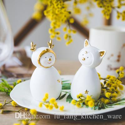 New Resin Cute Cat Home Decor Birthday Gifts For Lover Ins Hot Decoration Child 2018 4style Desktop Wholesale
