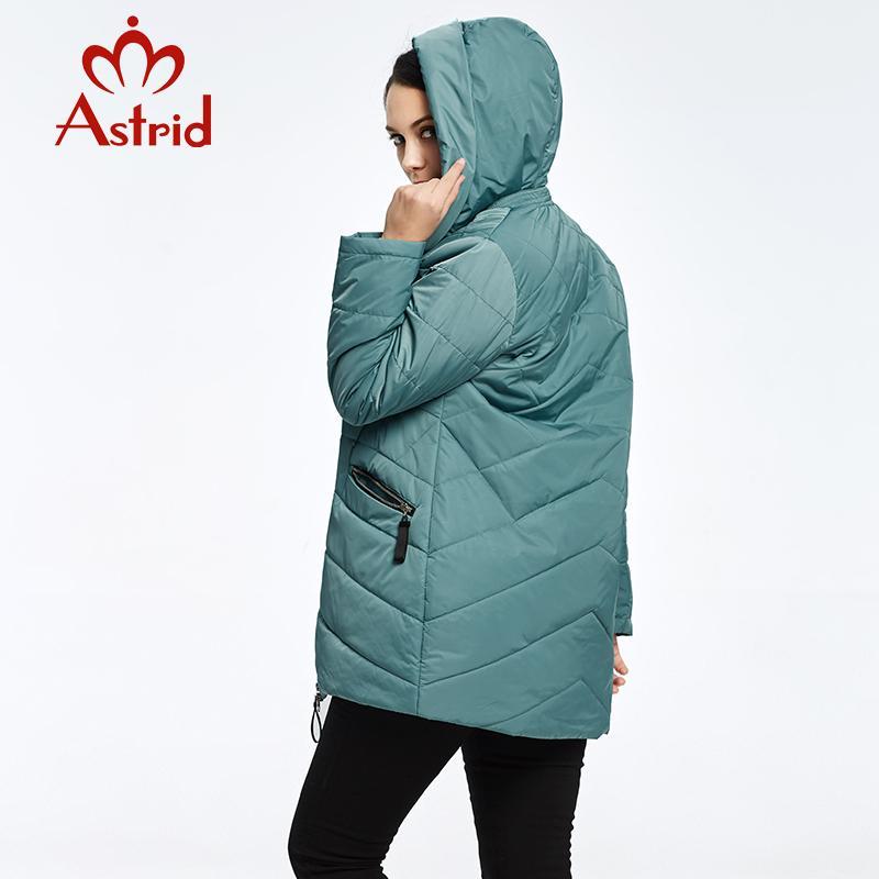 2018 Astrid Mujeres abajo Chaqueta Invierno casaco feminino Moda cálido y cómodo Ocio Marca parkas mujeres Ucrania AM-1949