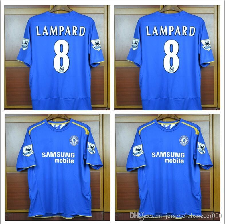 a6dfedfb5 Lampard Drogba Terry Home Retro Soccer Jersey 2005 2006 100 Years Classic  Football Shirt 05 06 Maillot Camisa De Futebol UK 2019 From  Jerseyclubsoccer000
