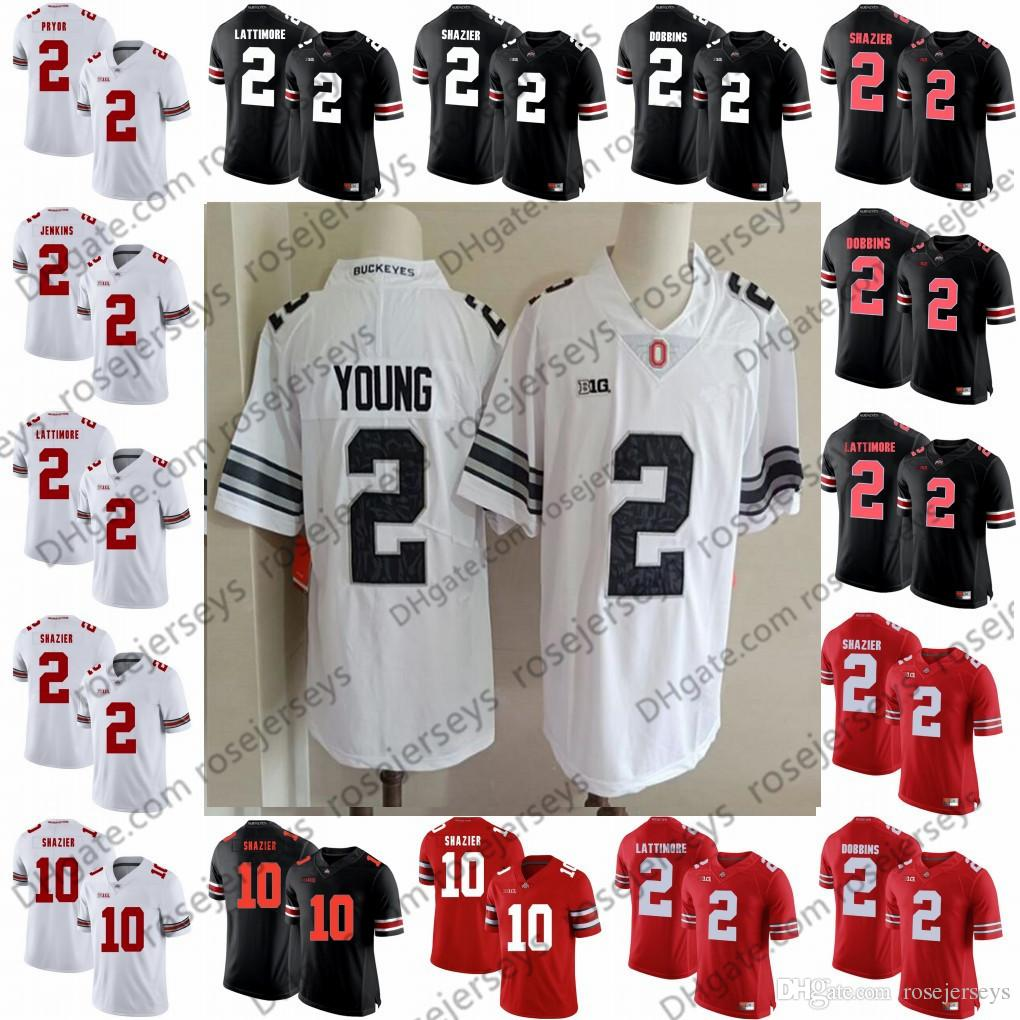 the latest c6e6c b7732 2019 Ohio State Buckeyes  2 Chase Young Marshon Lattimore Malcolm Jenkins  Cris Carter Terrelle Pryor 10 Ryan Shazier Black Red White Camo Jerseys  From ...