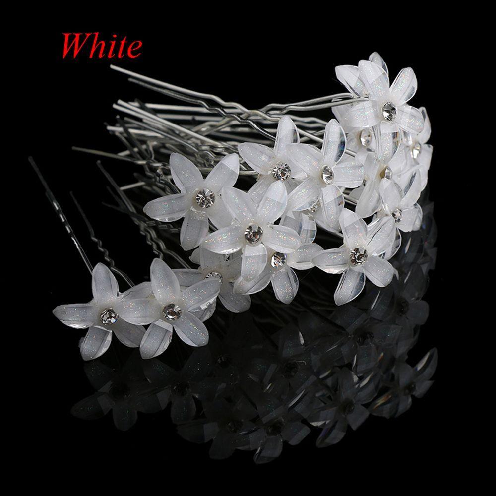 Flower Crystal Rhinestone Hairpins Hair Clips Women Wedding Bridal