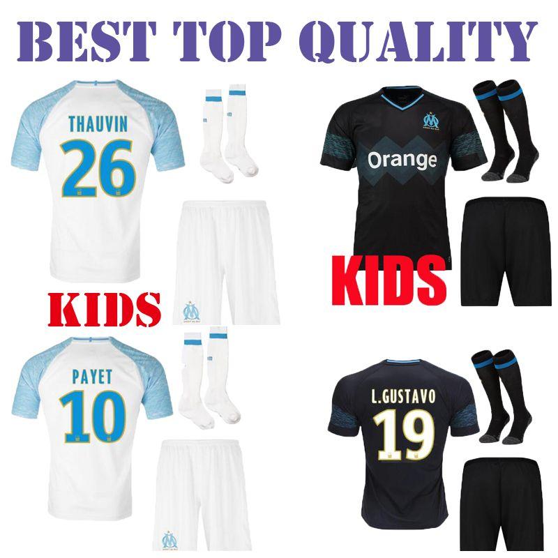 KIDS KIT 2018 2019 Olympique De Marseille Soccer Jersey OM PAYET L ... 87a5adb6f
