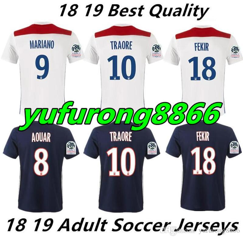 Thai Quality 2018 2019 Olympique Lyonnais Home Football Jersey 18 19 ... f96e9cc33