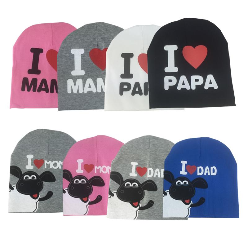 94ca0053c4a 2019 2017 Fashion Winter Baby Hats Knitted Warm Cotton Toddler Beanie Baby  Girl Boy I LOVE PAPA MAMA Print Kids Cap For 1 3 Years Old From Fkansis