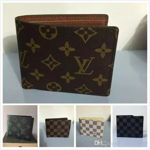 24703d08d2b 2019 Hot Sale AJLOUIS VUITTON Old Flower Short Folding Wallet ...