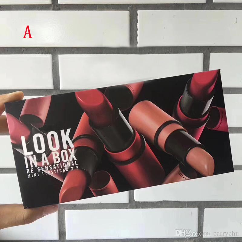 M brand Frost Sexy lipstick M Makeup look in a box be sfnsational mini size Lipsticks *5 Frost Matte Lipstick