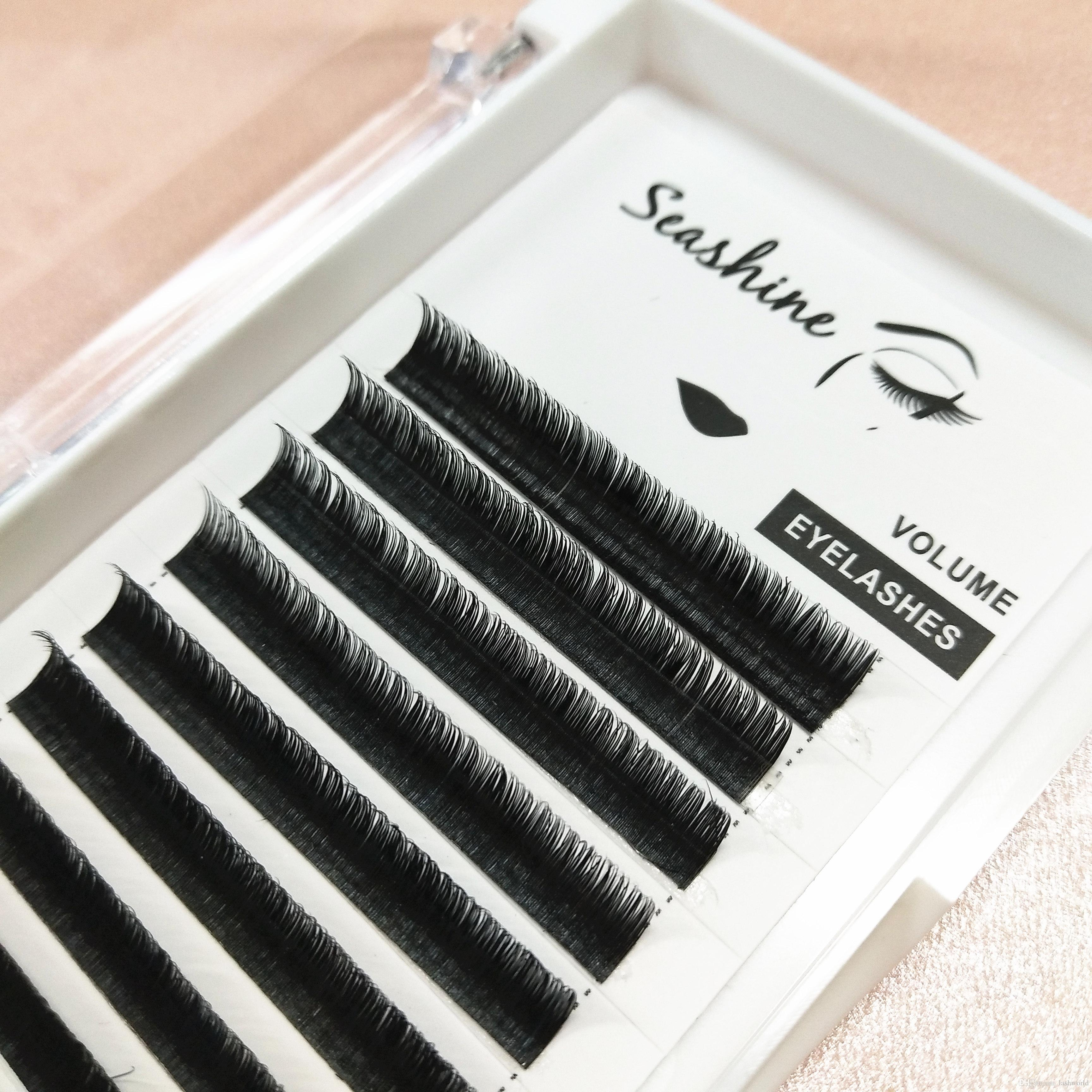 Seashine real mink individual eyelash extension real mink material 0 15mmT  D curl 8-15mm single length in stock free shipping