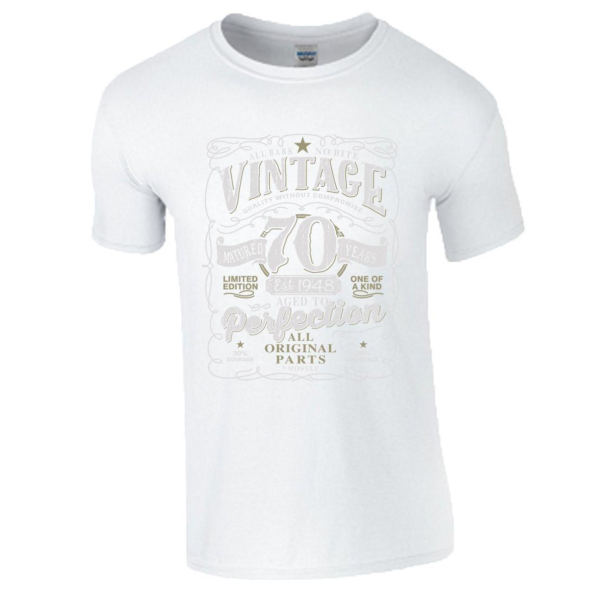 70th Birthday Gift T Shirt Made In 1948 Original Parts 70 Years Mens Women Top Making Companies 7 From Lijian15 1208