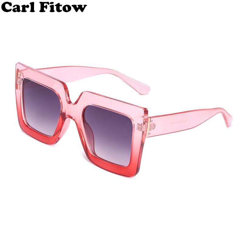 8946509ad350 2018 Italy Luxury Brand Oversized Square Sunglasses Women Men Brand  Designer Retro Frame Sun Glasses For Female Green Red Oculos Mens Sunglasses  Police ...