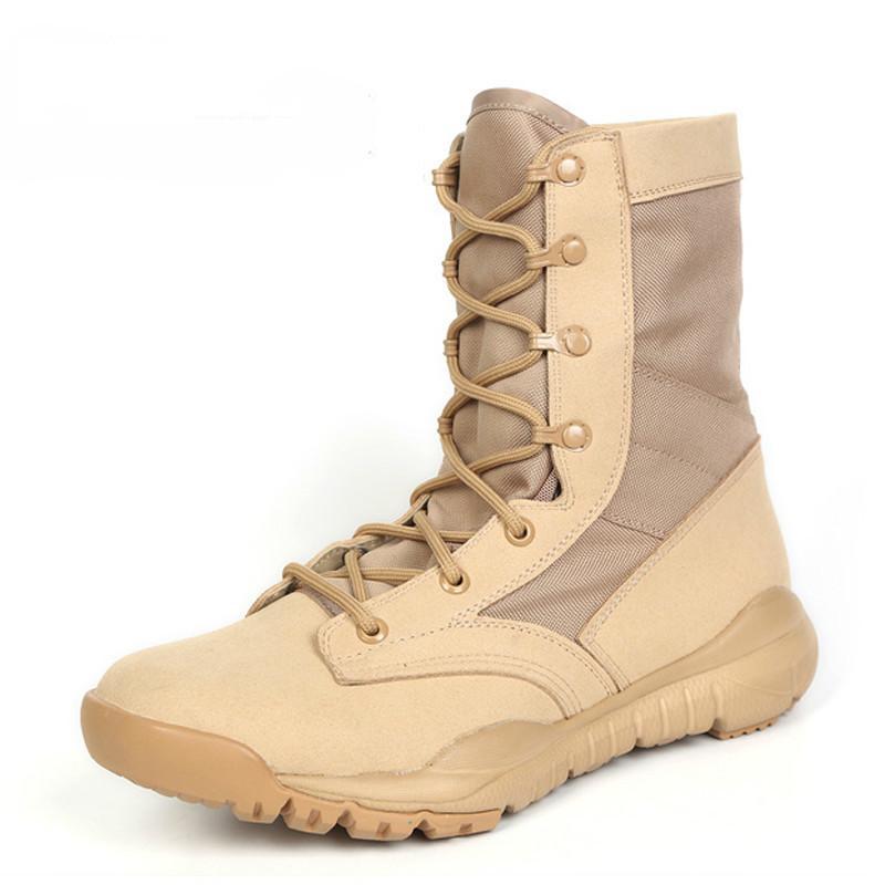 2017 Sommer Militärische Taktische Stiefel Für Männer Wüste Armee Kampf Knöchel Stiefel Aus Echtem Leder Reißverschluss Arbeit Sicherheitsschuhe Home