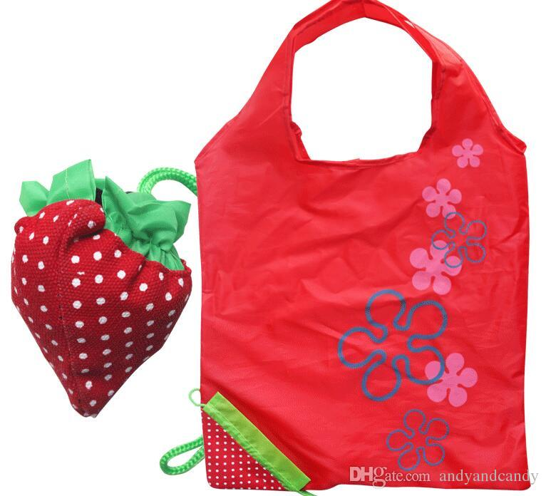 c0bda17c9bb 2019 Super Cute Strawberry Shopping Bag Multi Function Bags Nylon Berries  Foldable Eco Friendly Tote Bag Logo Size Customized From Andyandcandy