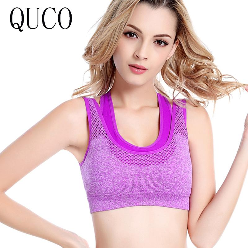 6f8c7f9e770 2019 QUCO Brand 2017 Women Girls Padded Seamless Bra Vest Tops Rimless Fake  Two Bras Plus Size B13 From Wangzi001