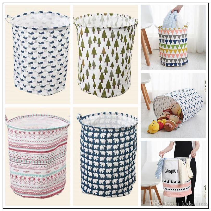 35 Styles Storage Baskets Ins Bins Kids Room Toys Storage Bags Ins Storage  Basket Bucket Clothing Organizer Laundry Bag Cca9095 From China Boxes U0026  Storage# ...