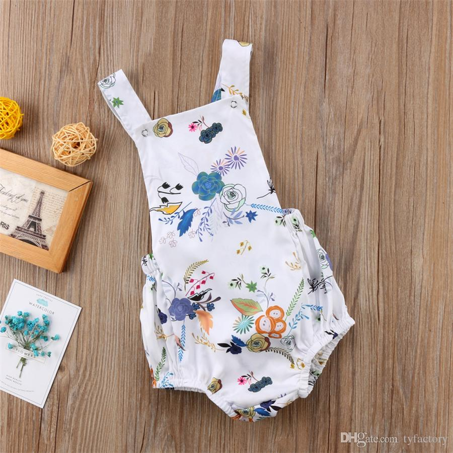 Infant newborn baby girls flower wheat romper onesie jumpsuit toddler outfit kid clothing girls lovely floral onesies bodysuit sunsuit 0-24M