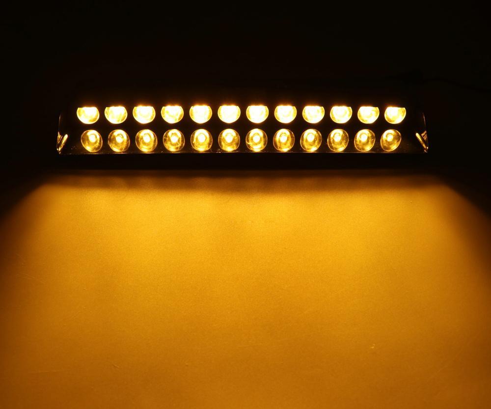 HEHEMM 12 LEDs Flash Lamp Car LED lights DashBoard Emergency Strobe Warning Interior Light for Car Truck Vehicles Amber White