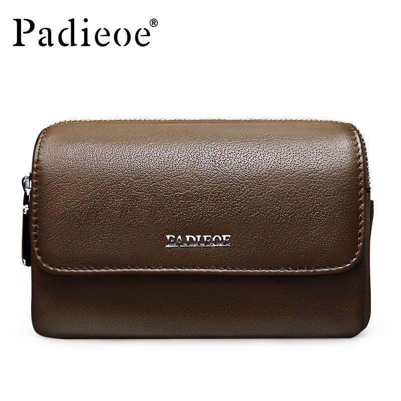 6b8e22329b2f Padieoe Brand Men S Waist Bag Fanny Pack Genuine Leather Belt Bag Travel  Casual Men Multifunction Wallet Cowhide Mobi Phone Best Hiking Backpack  Fashion ...