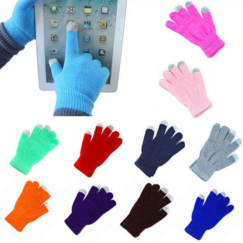 venta más barata reunirse nuevas imágenes de Guantes de pantalla táctil Antiskid Touch Screen Gloves para IPhone IPad  Teléfono inteligente Unisex Outdoor Winter Warm Knitting Telefingers  Guantes ...