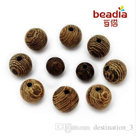 6~20mm Natural Wood Round Wooden Loose Spacer Beads DIY Craft Jewelry Making Lot