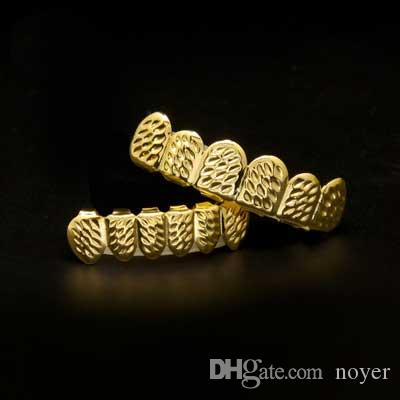 Mens Hip Hop Jewelry Real Gold Plated Grillzs European And